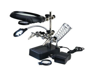 Artesania Latina 27022-3 Third Hand with 3 magnifiers & 5 LED lights modellismo