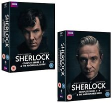 SHERLOCK 1-4 2010-2017: BENEDICT CUMBERBATCH Holmes NEW BBC Series R2 DVD not US