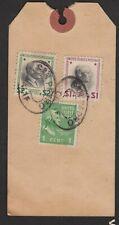 1940s DOLLAR-VALUE PREXIES ON PARCEL MAILING TAG, SAN PEDRO, CALIF. $3.01 FRANK
