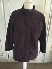 Marks & Spencer Burgundy Fleece Jacket.   Size 12.  In Excellent Condition.