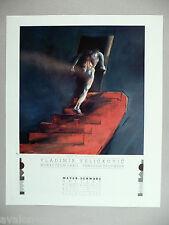 Vladimir Velickovic Art Gallery Exhibit PRINT AD - 1989 ~~ Descent