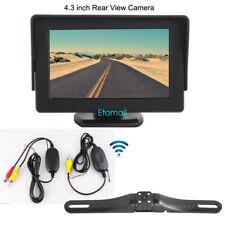 "4.3"" Car Rear View TFT LCD Monitor + Night Vision Reverse Backup Camera Wireless"