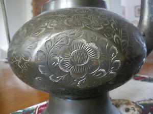 Vintage Topf Surahi Aftaba Messing Indisch Dekorativ Mughal Sammelbar Original