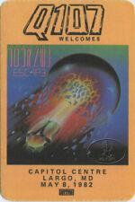 Journey 1981 Escape Tour Radio Promo Backstage Pass Capitol Centre Largo