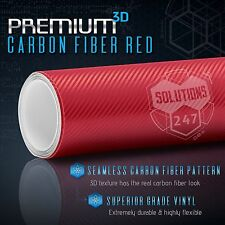 "36"" x 60"" In Vinyl Wrap Bubble Free Air Release - 3D Red Carbon Fiber Matte"