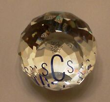 """Swarovski Collector Society Paperweight Round 1 1/2"""" Across Made In 1987"""