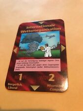 INTERNATIONALE WETTERORGANISATION : Illuminati German INWO CCG 1996 card, TCG