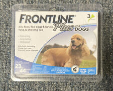 Frontline Plus Flea and Tick Treatment For Dogs 23-44 lbs 3 Doses Sealed
