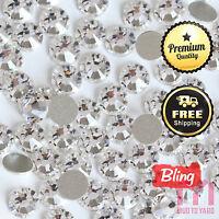 1440pcs Crystal Clear Flatback Rhinestone 3D No Hotfix Nail Art Manicure Gems