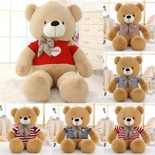 Big Teddy Bear Soft Plush Toys Cute Sweet Tie Sweater Stuffed Kid Doll Gift 80Cm