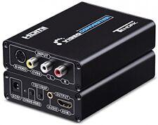 S-video to HDMI 3RCA AV CVBS Composite to HDMI Converter Upscaler Adapter