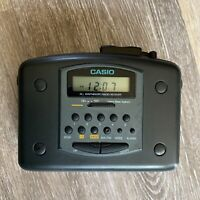 Vintage Casio AM/FM Stereo Cassette Player AS-703R W/Clip Tested and Working