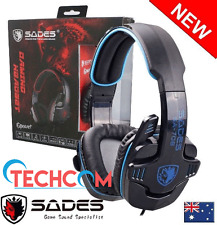 SADES GPOWER SA708 3.5mm Computer Headset Gaming with microphone for PC BLUE