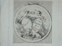 Grabado S.XIX A. Gerbier Querubines Amor El 8 Noviembre 1891