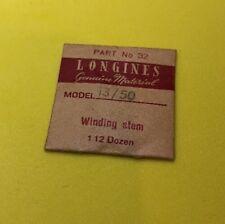 NOS Longines Winding Stem Cal.13/50 Part 401 Watch Parts Repair Restore Swiss