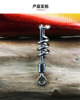 100* SCREW ROLLING SWIVELS Fishing Swivel Snap Swivels Connector Cork Screw New