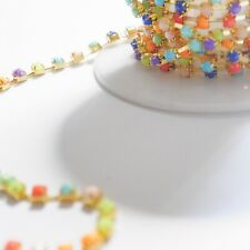 chaine strass multicolore 3mm (2m10)