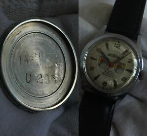 GERMAN WW2 U-Boat U-295 14.Flotill Kriegsmarine Boat Iron Cross Wrist Watch