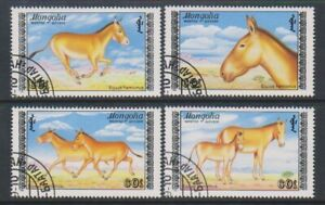 Mongolia - 1988, Asian Wild Ass set - F/U - SG 1967/70 (a)