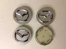 Set of 4 MAZDA  Face 56mm Clip 56mm ALLOY WHEELS CENTER CAPS SET  [ Silver ]