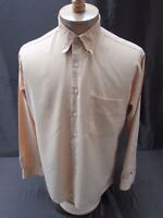 Bugatchi Uomo men's size M mustard yellow check shirt button front long sleeve