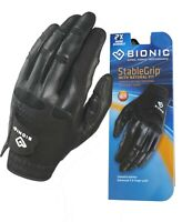 Bionic Golf Glove - StableGrip - Mens Left Hand - Black - Leather Medium/Large