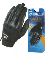Bionic Golf Glove - StableGrip - Mens Left Hand - Black - Leather XX/Large