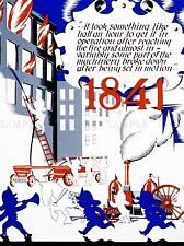 ADVERT HISTORY CIVIC SERVICES CITY NEW YORK FIRE DEPARTMENT PRINT LV919
