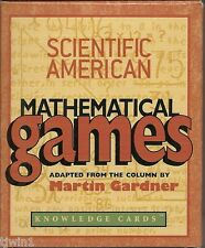 SCIENTIFIC AMERICAN MATHEMATICAL GAMES BY MARTIN GARDNER KNOWLEDGE CARDS 100%