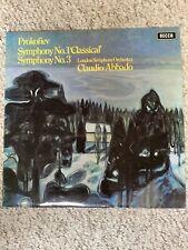 decca sxl 6469 Prokofiev Symphony 1,3 Claudio Abbado London Sym Vinyl 1970 Ex