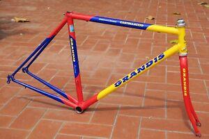 Grandis Verona steel road bike frameset, Columbus Genius, 48 cm sloping - VGC
