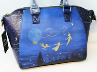 Disney Parks Loungefly Peter Pan's Flight Main Attraction Crossbody Tote Purse