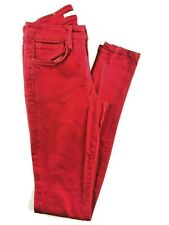 Joe's Jeans The Skinny Red Low Rise Women's Jeans 26. 26x33