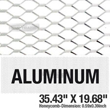 "Silver Honeycomb Hex Mesh Aluminum Grille Fog Custom Kit 35""x19"" For All Vehicle"
