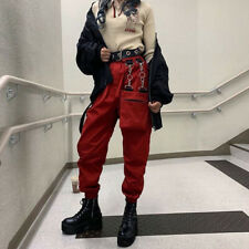 metal ring casual overalls trousers Ladies fashion casual loose street style