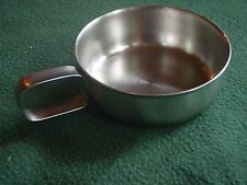 Foley Baby Bowl Stainless D Loop Script Handle cup Vintage Made In USA