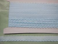 Broderie Anglaise Flat Blue  Lace - 20. metres