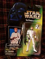 1996 Star Wars Potf Luke Skywalker in Stormtrooper Disguise Action Figure Nip