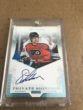 2011 PANINI DOMINION ERIC LINDROS PRIVATE SIGNINGS AUTO CARD 1/1 FLYERS WOW