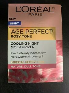 NEW L'OREAL Age Perfect Rosy Tone Cooling Night Moisturizer 1.7 oz supple skin