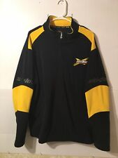 Skidoo X Team Fleece Pull Over Black And  Yellow Quarter Zip Mens Sz XL