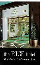 America Postcard - The Rice Hotel - Houston - Texas - Ref A4776