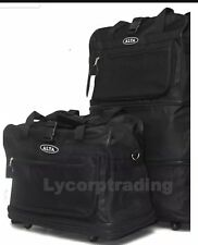 "36"" Expandable Rolling Duffle Bag with 5 Spinner Wheels Unzips Into 3 Sizes"