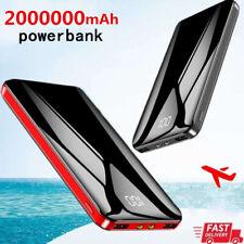 Portable 2000000mAh Power Bank 2USB LED&LCD External Battery Backup Fast Charger