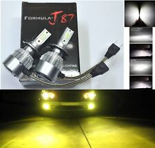 LED Kit C6 72W H7 3000K Yellow Two Bulbs Light Turn Cornering Replace Upgrade OE