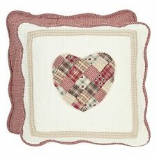 Clayre & Eef Pillowcase Pillow Cover Heart Quilt Pillow Shabby Chic 40cm