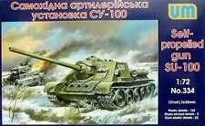 1/72 WWII Su-100 Soviet self-propelled gun UM 334 Models kits