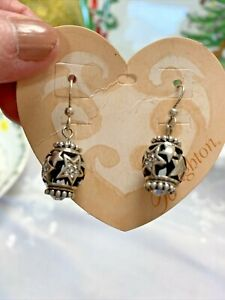Brighton Shimmering Star drop dangle earrings crystal new on card charm crystal