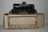 DELTON BRASS G SCALE #4248C SPECIAL RUN GRAMPS TANK CAR, WOOD & BRASS, NICE
