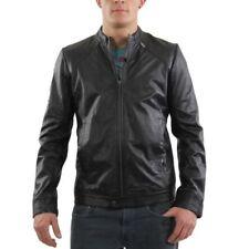 Abrigos y chaquetas de hombre negras Diesel de piel